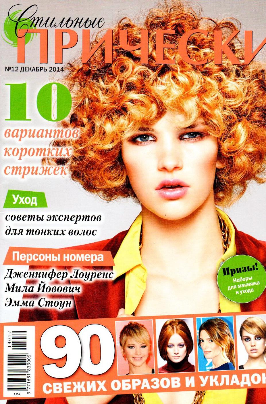 журнал стильные прически ь 12 декабрь 2009